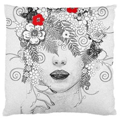 Flower Child Large Cushion Case (Single Sided)