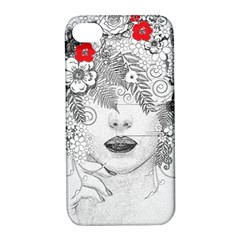 Flower Child Apple Iphone 4/4s Hardshell Case With Stand