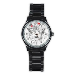 Flower Child Sport Metal Watch (Black)