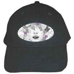 Flower Child Of Hope Black Baseball Cap