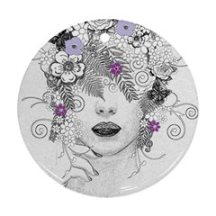 Flower Child Of Hope Round Ornament
