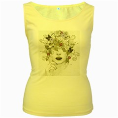 Flower Child Of Hope Women s Tank Top (Yellow)