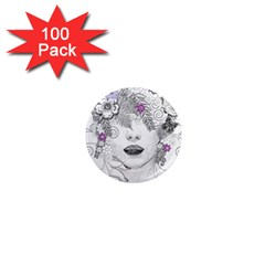 Flower Child Of Hope 1  Mini Button Magnet (100 pack)