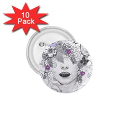 Flower Child Of Hope 1.75  Button (10 pack)
