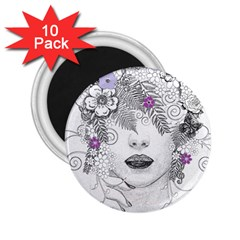 Flower Child Of Hope 2.25  Button Magnet (10 pack)