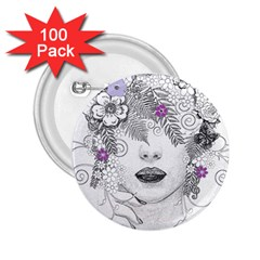 Flower Child Of Hope 2.25  Button (100 pack)