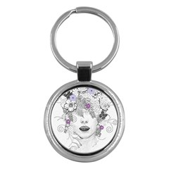 Flower Child Of Hope Key Chain (round)