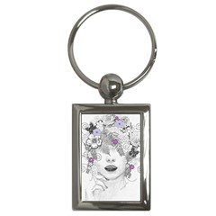 Flower Child Of Hope Key Chain (rectangle)