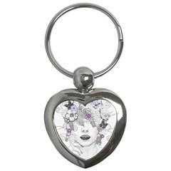 Flower Child Of Hope Key Chain (Heart)