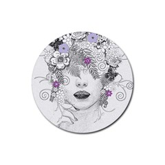 Flower Child Of Hope Drink Coasters 4 Pack (Round)