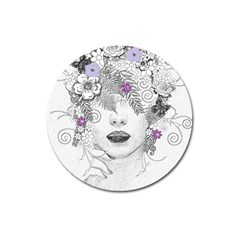 Flower Child Of Hope Magnet 3  (Round)
