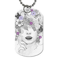 Flower Child Of Hope Dog Tag (Two-sided)