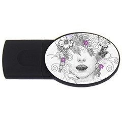 Flower Child Of Hope 2GB USB Flash Drive (Oval)