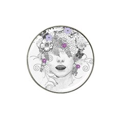 Flower Child Of Hope Golf Ball Marker 4 Pack (for Hat Clip)