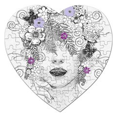 Flower Child Of Hope Jigsaw Puzzle (Heart)