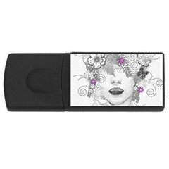 Flower Child Of Hope 4gb Usb Flash Drive (rectangle)