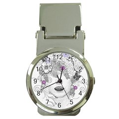 Flower Child Of Hope Money Clip With Watch
