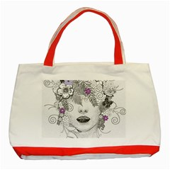 Flower Child Of Hope Classic Tote Bag (Red)