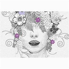 Flower Child Of Hope Canvas 12  x 18  (Unframed)