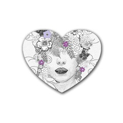 Flower Child Of Hope Drink Coasters 4 Pack (Heart)