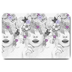 Flower Child Of Hope Large Door Mat