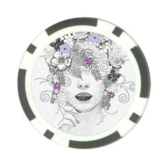 Flower Child Of Hope Poker Chip