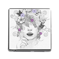 Flower Child Of Hope Memory Card Reader With Storage (square)