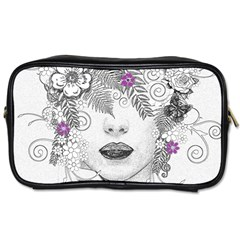 Flower Child Of Hope Travel Toiletry Bag (Two Sides)