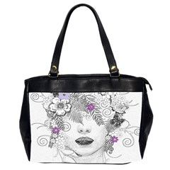 Flower Child Of Hope Oversize Office Handbag (two Sides)