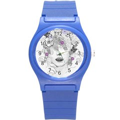 Flower Child Of Hope Plastic Sport Watch (Small)