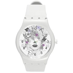 Flower Child Of Hope Plastic Sport Watch (Medium)