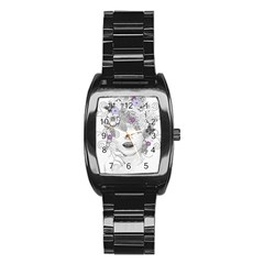 Flower Child Of Hope Stainless Steel Barrel Watch