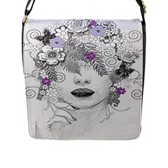 Flower Child Of Hope Flap Closure Messenger Bag (large)