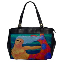 Abstract Mermaid Faux Leather Shoulder Bag