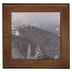 Mountains Framed Ceramic Tile