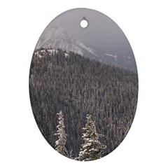 Mountains Oval Ornament
