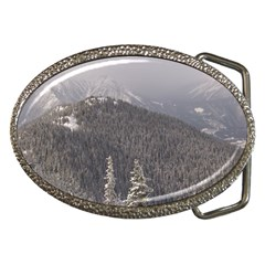 Mountains Belt Buckle (Oval)