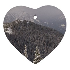 Mountains Heart Ornament (Two Sides)