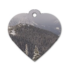 Mountains Dog Tag Heart (two Sided)