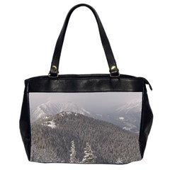 Mountains Oversize Office Handbag (Two Sides)