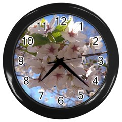 Sakura Wall Clock (Black)
