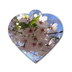 Sakura Dog Tag Heart (one Sided)