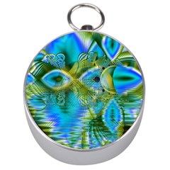 Mystical Spring, Abstract Crystal Renewal Silver Compass