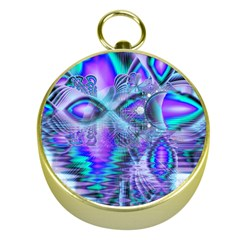 Peacock Crystal Palace Of Dreams, Abstract Gold Compass