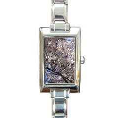 Sakura Tree Rectangular Italian Charm Watch