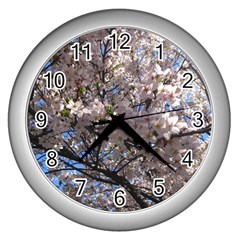 Sakura Tree Wall Clock (Silver)