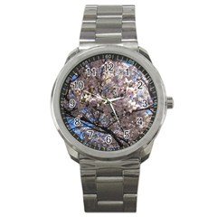 Sakura Tree Sport Metal Watch