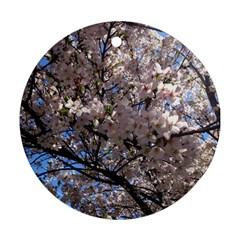 Sakura Tree Round Ornament (Two Sides)