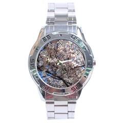 Sakura Tree Stainless Steel Watch