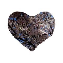 Sakura Tree 16  Premium Heart Shape Cushion
